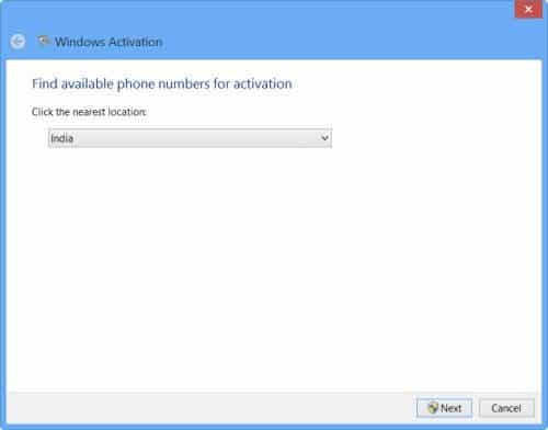 Phone number for windows 8 activation