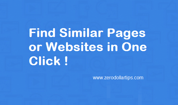 Find Similar Pages anebsites in Google Chrome