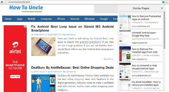 How to Find Similar Pages and Websites in Google Chrome