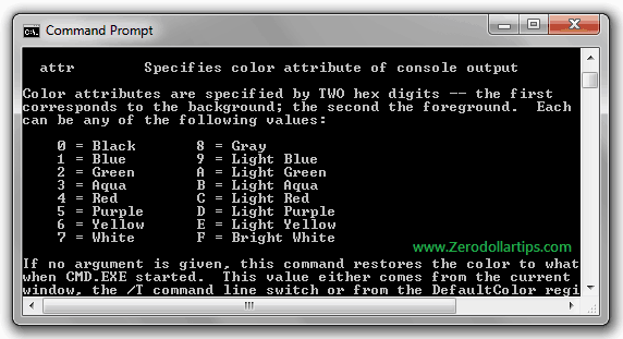 change font and color of windows command prompt