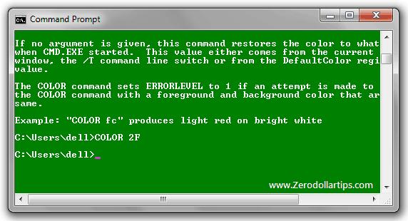windows 7 command prompt