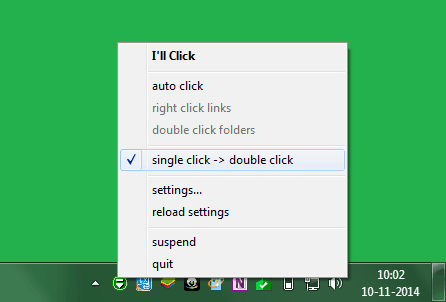 change double click to single click