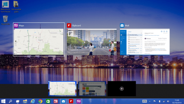how to add multiple desktops to task view in windows 10