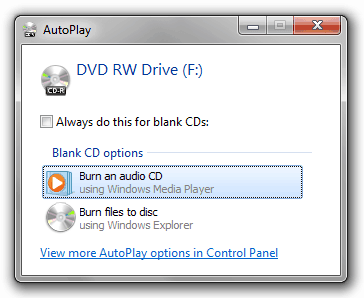 how to burn a cd/dvd on windows 7 without using software