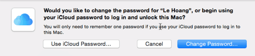 how to change account password