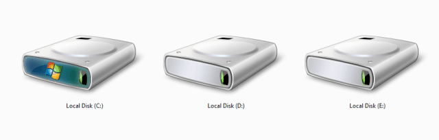 how to hide drives in windows 7