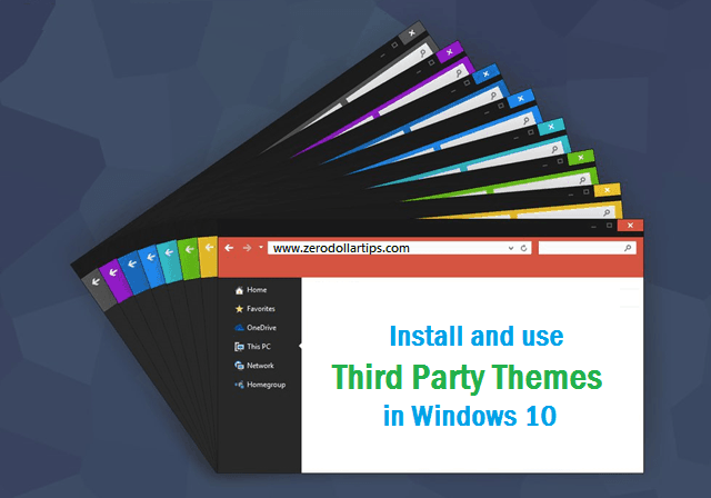 How to install and use third party themes in Windows 10