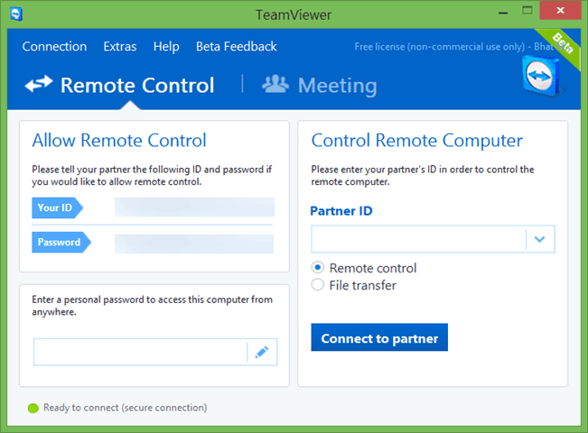 how to use teamviewer without installing