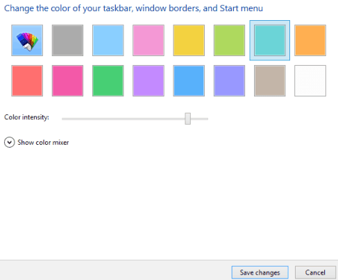 how to change color and size of windows 10 start menu