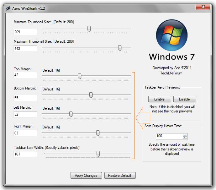 windows 7 taskbar thumbnail