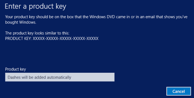 windows 8.1 change product key
