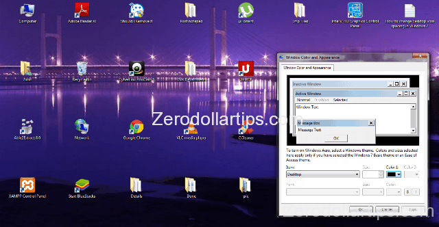 How to change desktop icon spacing in Windows 7