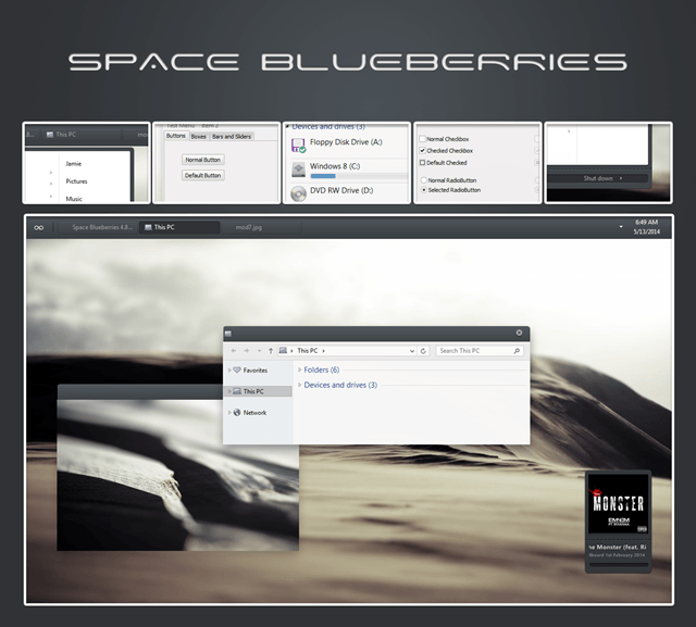 Space Blueberries Theme