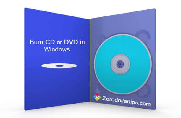 how to burn cd or dvd in windows from right-click menu