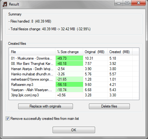 mp3 file size