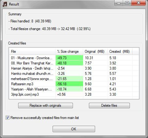 mp3 file size