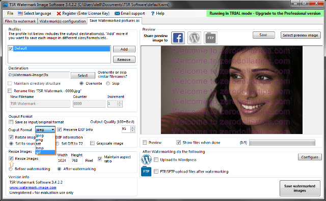 tsr watermark image software