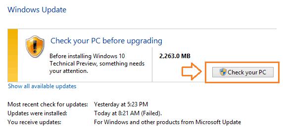 upgrade to windows 10 from windows 8