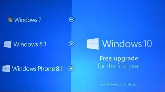 windows 10 free upgrade for windows 7 and windows 8.1