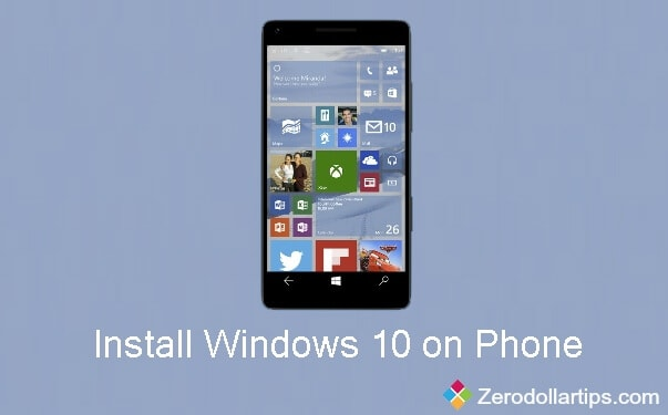 how to install windows 10 on windows phone