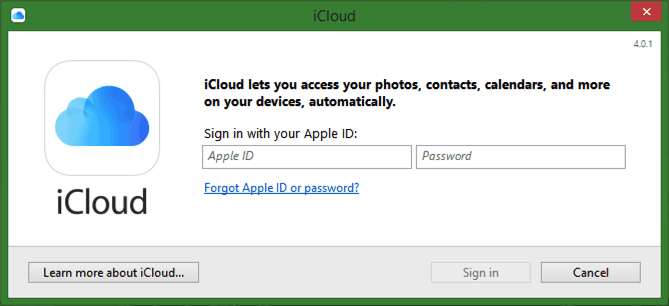 sign up for icloud