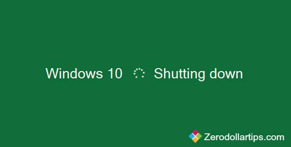 speed up windows 10 shutdown