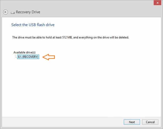 windows 8.1 usb recovery