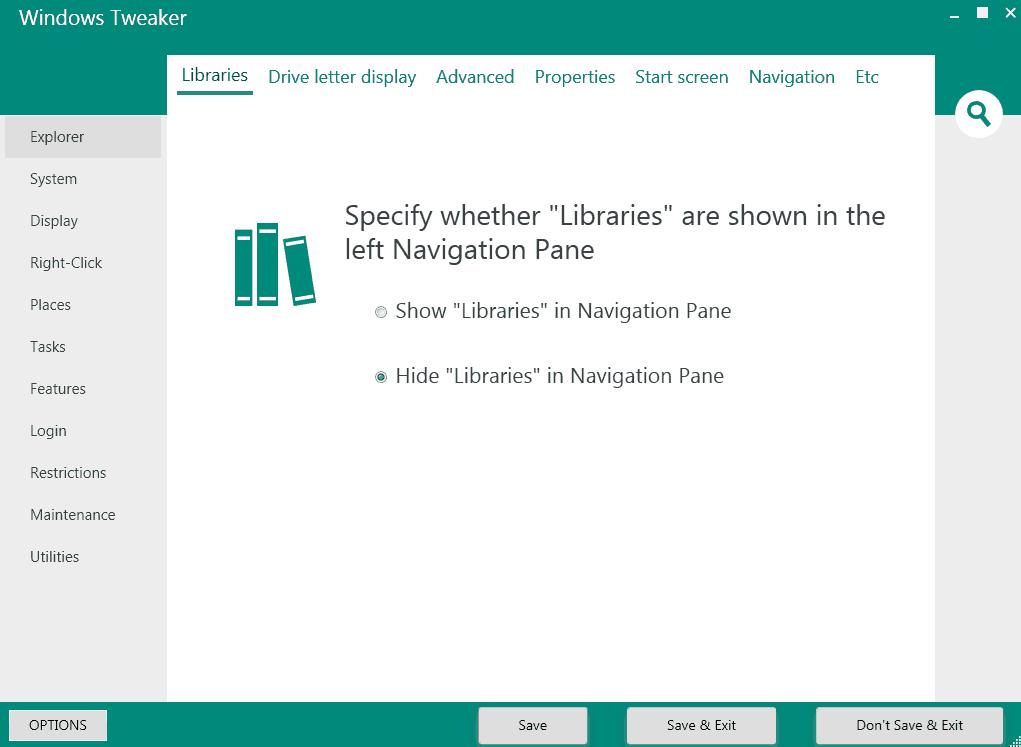windows tweaker libraries