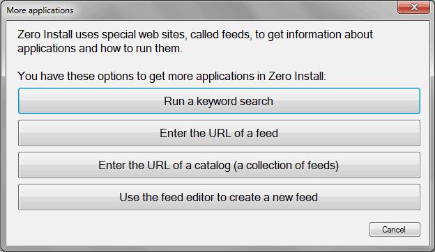 zero install for windows