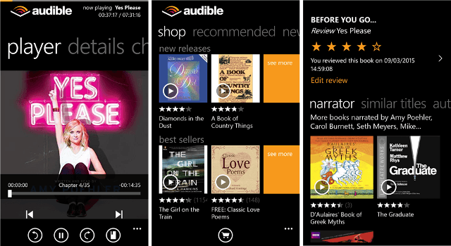 audible for windows phone