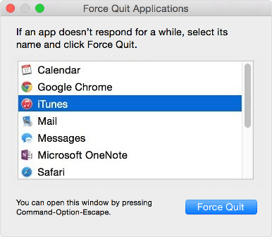 force quit an app in mac os x