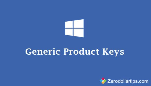 generic key for windows