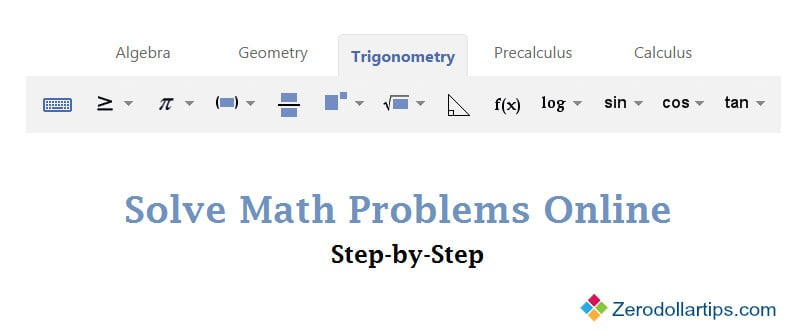solve math problems online
