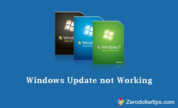 windows update not working in windows 7