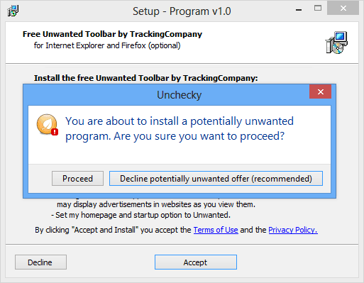 avoid installing potentially unwanted programs