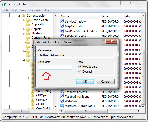 disable administrative tools