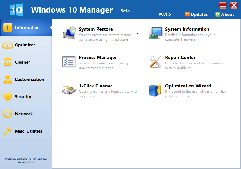 download windows 10 manager for free
