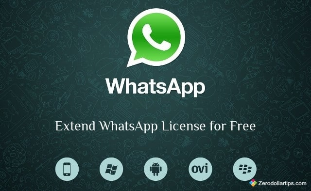 extend whatsapp license for free