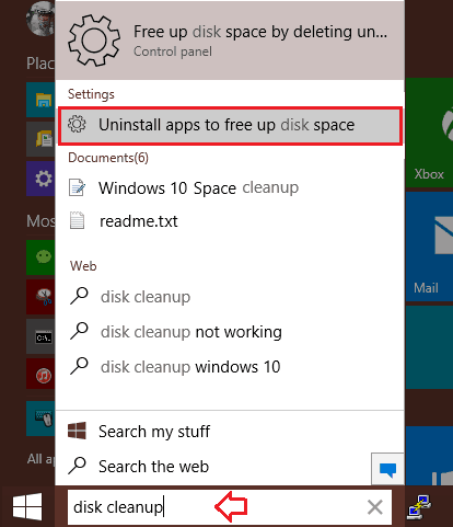 how to free up disk space on windows 10 pc
