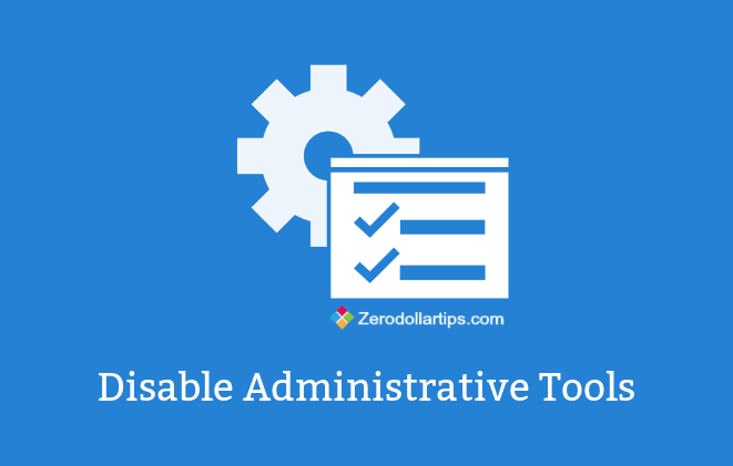how to restrict administrative tools access in windows