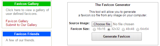 Favicon Generator & Gallery