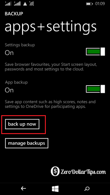how to back up data