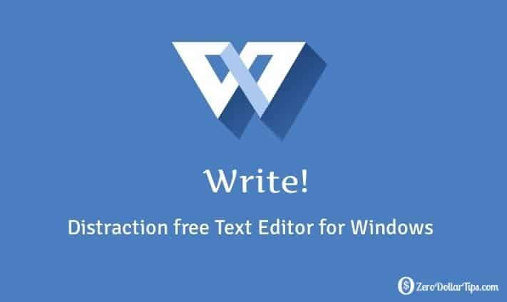 write - distraction free text editor for windows