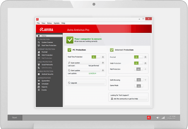 avira free antivirus software