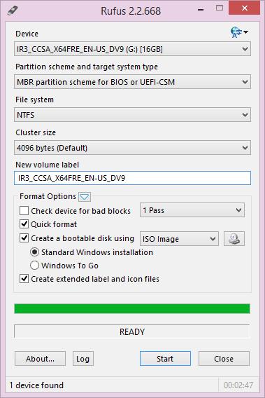 create bootable usb flash drive
