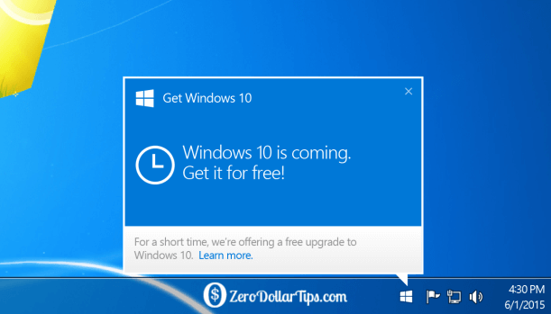 "enable ""get windows 10"" app icon in windows 7/8.1 taskbar"
