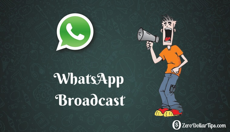 How to send whatsapp message to all contacts at once