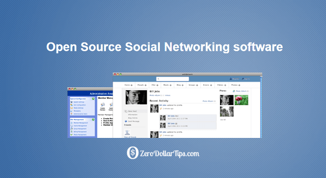 open source social networking software