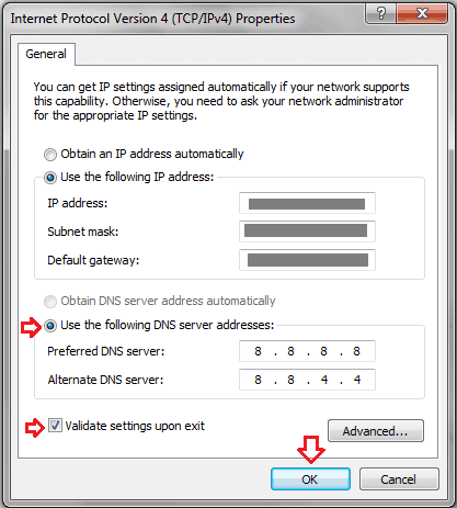 Fix DNS Probe Finished Bad Config Error For Windows