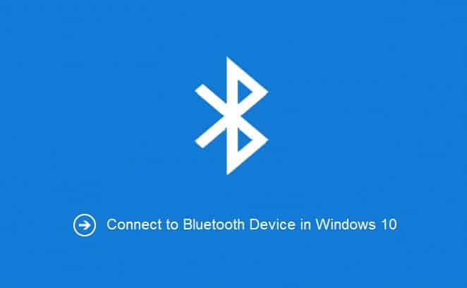 connect bluetooth devices in windows 10